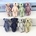 Nuevo arrivel 20 unids Mini-Articulación Del Oso osos de peluche juguetes de Peluche regalos de Boda de mezclilla Niños juguetes de Dibujos Animados de Navidad regalos Pareja regalos