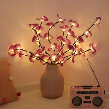 20 LED s 73cm LED Simulation orchidée branche lumières arbre lampe de Table LED saule branche lumières pour noël fête mariage décoration de la maison