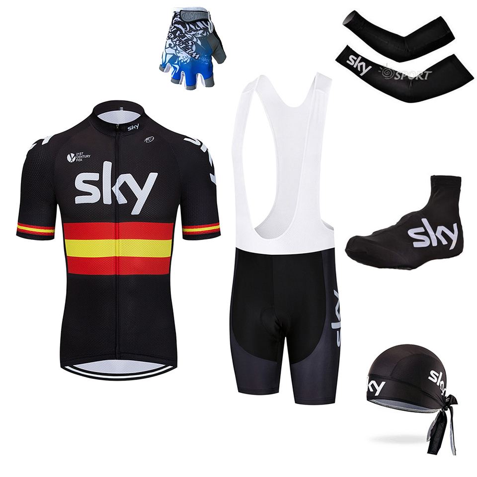 Pro sky black Summer Cycling Set ! 2018 5pc Cycling Jersey Set Shorts Sleeve Mountian Bike Clothes Racing Bicycle Clothing Wear недорго, оригинальная цена