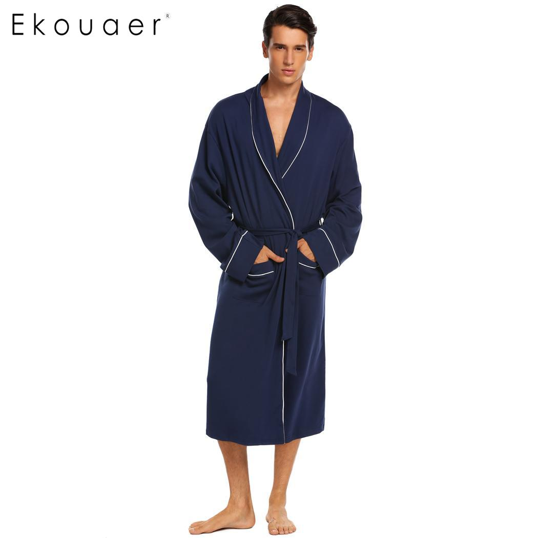 Buy long sleeve mens broadcloth robe and get free shipping on AliExpress.com 2adf4237e