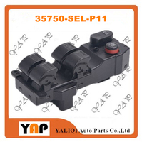 Power Window Lifter Switch FOR FITHONDA Jazz III 1.3L 1.5L L4 FRONT Left 35750 SEL P11 2002 2017