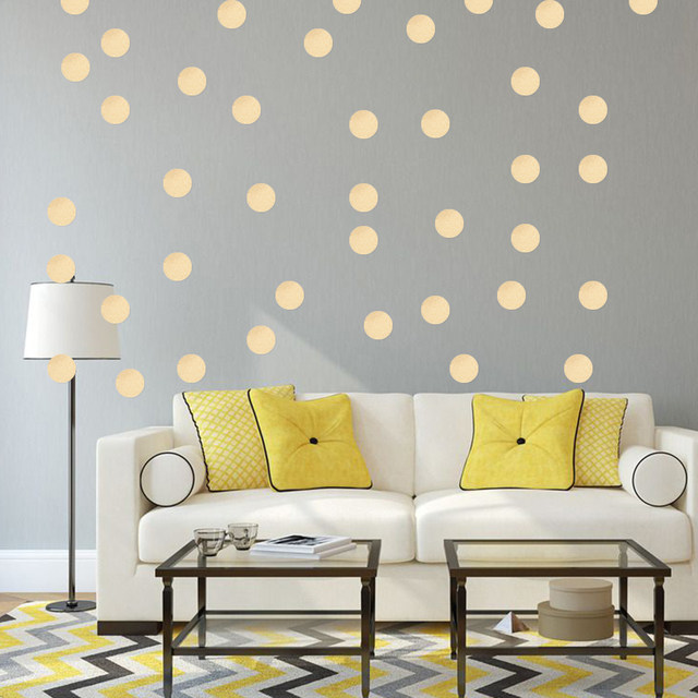 Online Shop Gold Polka Dots Wall Sticker Baby Nursery Stickers ...