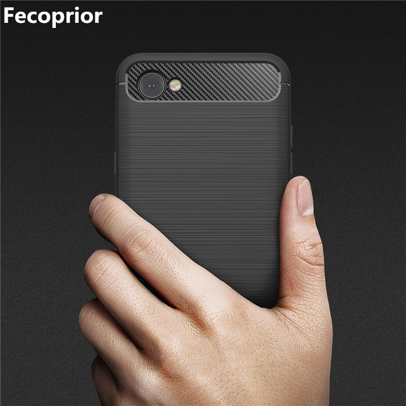 Fecoprior LGQ6 Q 6 Case for LG Q6 Back Cover Carbon Fiber Luxury Protective Armo