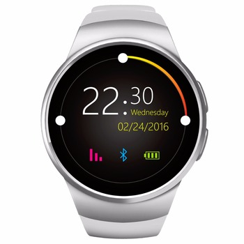 KW18 Smart watch MTK2502 Bluetooth 4.0 Waterproof Heart rate monitor for IOS Android IPS Round Screen Pedometer