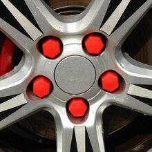 Car Styling 20pcs di Silice Accessori Auto Bolt Caps Hub Vite Protector Per Ford Focus 2 3 Fiesta Mondeo Kuga ecosport Fusion 19 #
