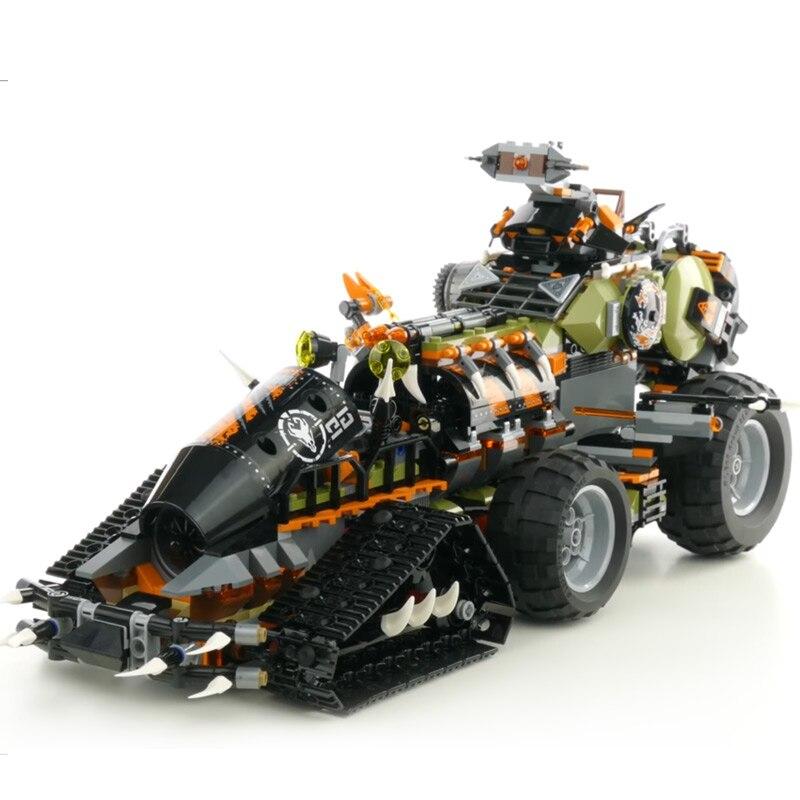 Lepin 06089 Toys Ninjago Series compatible with Lego 70654 Dieselnaut Set Building Blocks Bricks Kids Toys As Christmas Gift