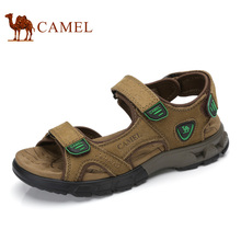 Camel Men's Sandals 2017 Spring Summer Daily Outdoor Leisure Leather Sandals Magic Stickers Beach Male Shoes A722307347