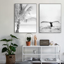Картина на холсте океанская волна тропические настенные художественные