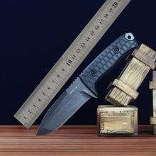 купить 2016 The cold steel DC53 high hardness straight knife blade Self-defense wild mountaineering tactical knife sharp bag mail по цене 5608.52 рублей