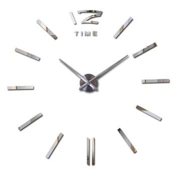 Nouveau bricolage acrylique miroir stickers muraux horloge grand design moderne 3d autocollant europe motif décoration maison horloges
