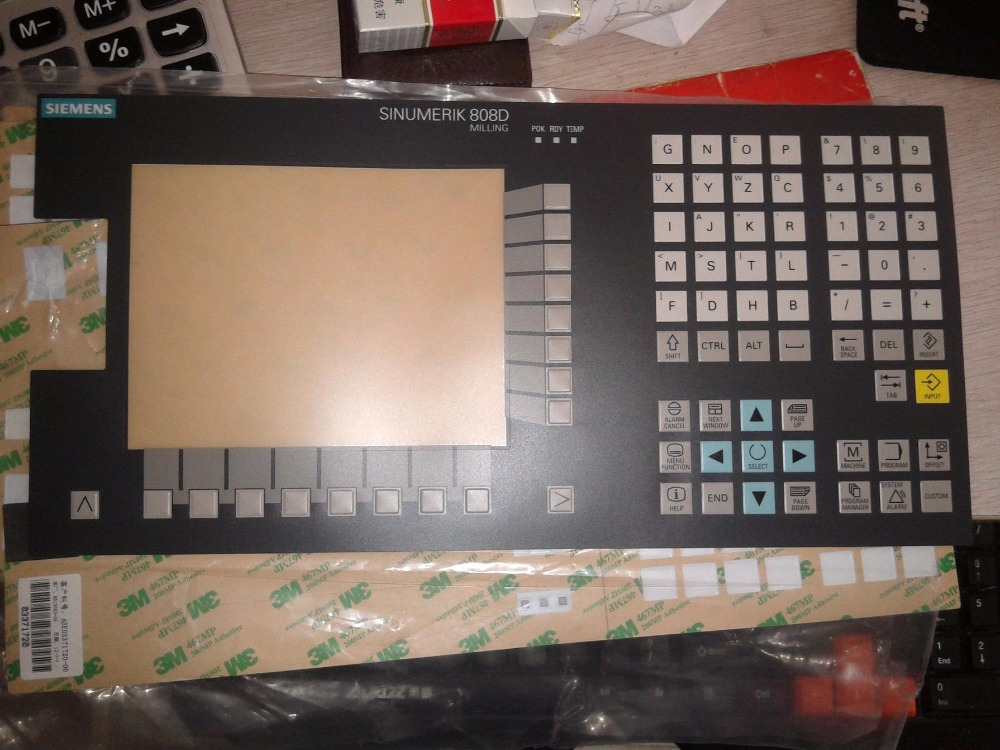 New Membrane Keypad for 6FC5370-2AM03-0CA0 6FC5 370-2AM03-0CA0 SINUMERIK 808D Repair, Have in stock