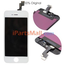Original OEM Black/White LCD Screen Display and Digitizer Assembly For iPhone 5S With Front Camera Holder and Earpiece Mesh