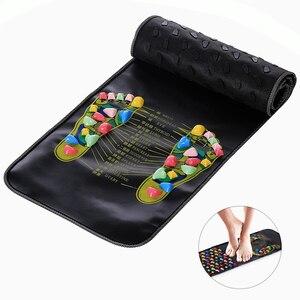 Image 2 - Reflexology Stone Foot Acupressure Massage Mat Pain Relief Feet Walk Massager Walk Stone Foot Massage Mat Pad Foot Spa Massager