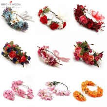 Bright Moon Small Rose Bouquet Corolla Wreath Artificial Vintage Garland Female Hair For Women