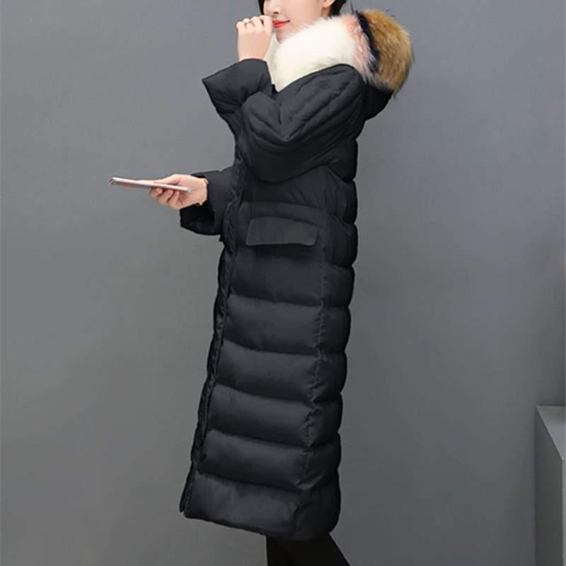 Survêtement White Mode Parkas Capuche Moyen Veste black Mince D'hiver Qualité Pr376 Long Femmes Bas Femelles Vers Nouvelles Le Manteau À Chaud Épais 2019 Haute qUxnBS