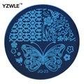 1 unid opcional JQ Series ( 75 estilos disponibles ) Nail Art DIY flor del cordón de plantillas de estampado plantilla de la imagen ( JQ-23 )