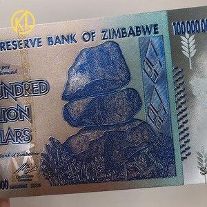Image 5 - Hot Bán 1000 Mảnh Đầy Màu Sắc Sivler/Gold Foil Tiền Giấy Zimbabwe Bạc Tiền Giấy Với Giấy Hộp Gỗ Cho Mã Tiền giả