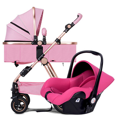3 in 1 baby strollers high landscape baby car folding light baby strollers Free ship many color Factory sell original hot mum baby strollers 2 in 1 bb car folding light baby carriage six free gifts send rain cover