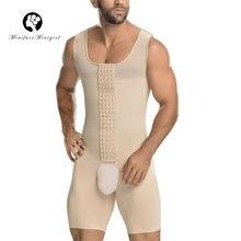 Minifaceminigirl Mens Black Nude Plus Size Shapewear Post Surgical Slimming Firm Compression Bodysuit Shaper