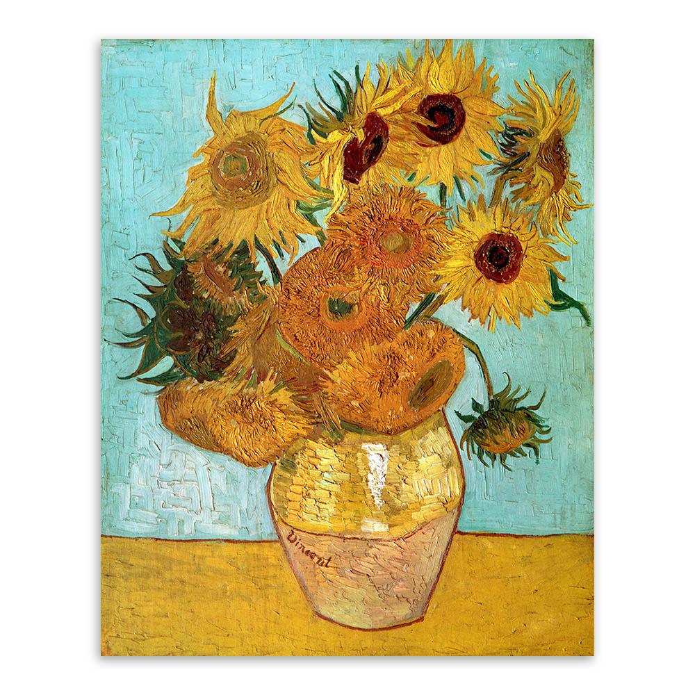 vincent van gogh modern yellow sunflower poster prints. Black Bedroom Furniture Sets. Home Design Ideas