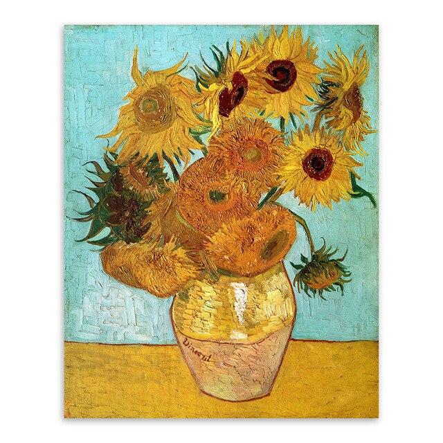 Vincent Van Gogh Modern Yellow Sunflower Poster Prints Original ...