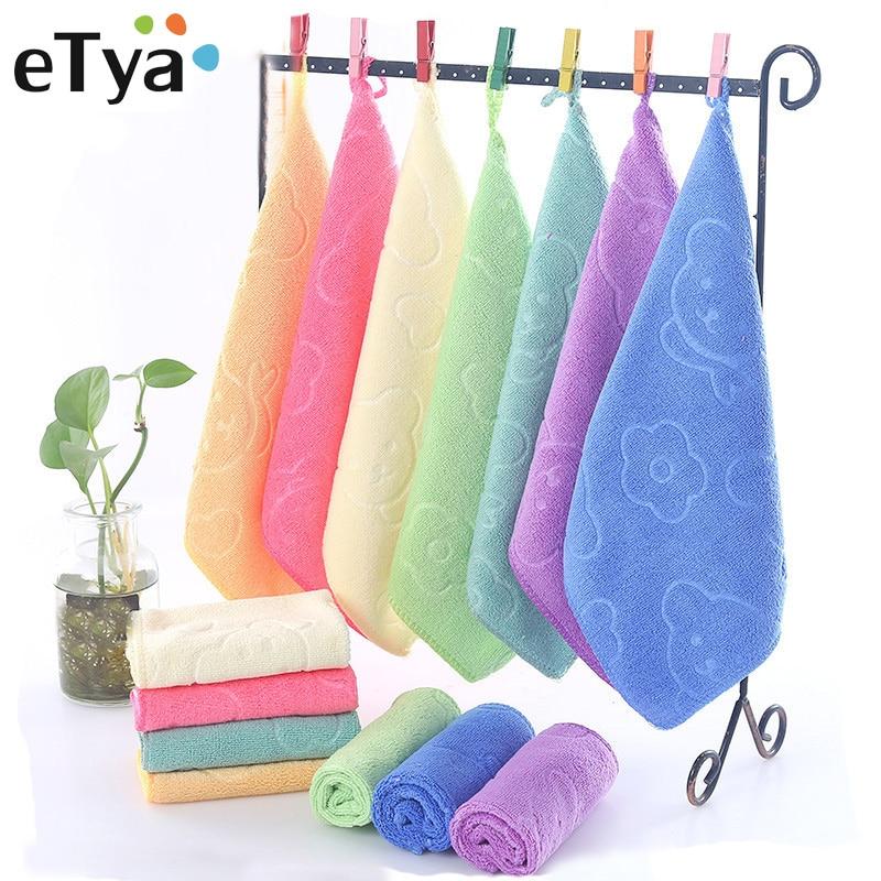 ETya Women Handkerchiefs Cute Cartoon 25*25cm Baby Cleaning Small Towel Children's Baby Pocket Handkerchief Towel