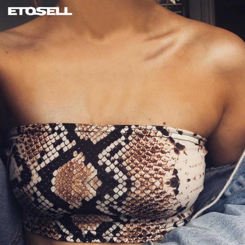 9365787a75 Detail Feedback Questions about Sexy Snake Skin Print Tube Top 2019 New  Fashion Women Strapless Boob Tube Bra Ladies Stretch Strapless Crop Wrap  Bandeau top ...