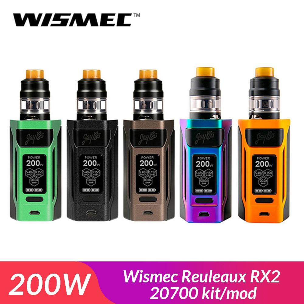 Original Wismec Reuleaux RX2 20700 kit/mod box with GNOME Atomizer 4ML fit WM Coil electronic cigarette vape kit