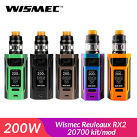 Original Wismec Reuleaux RX2 20700 kit/mod box with GNOME Atomizer 4ML fit WM Coil electronic cigarette vape kit