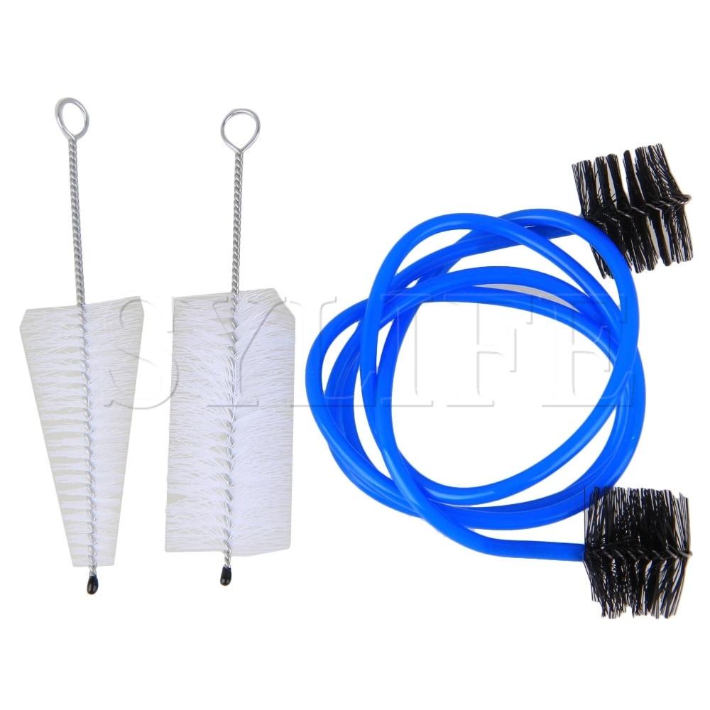 Nylon Trumpet Cleaning Snake Brush Valve Casing Brush Maintenance Care Kit