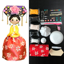 Soft Clay Slime Doll Set DIY Colorful Clay Chinese Style Doll With Dress Handwork Clay New Arrival Slime Supplies DOLLRYGA
