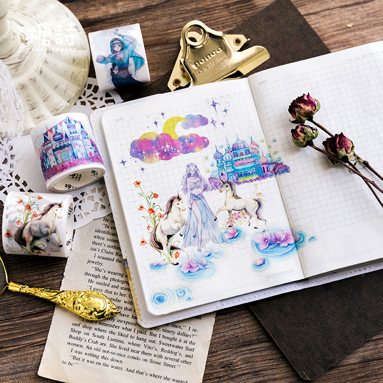 Disappearing country Unicorn Washi Tape Adhesive Tape DIY Scrapbooking Sticker Label Masking Tape цены