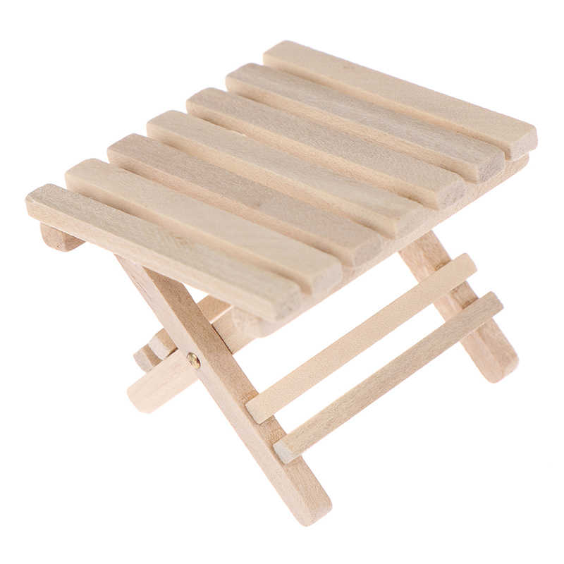 1:12 لتقوم بها بنفسك أثاث مصغر الشاطئ طاولة قابلة للطي للأطفال لعب لبيت الدمية الصغيرة المنمنمات الأثاث لعب هدايا للأطفال