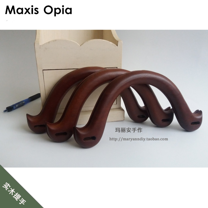 1 pair=2 pieces,customize your own Wooden Purse Bag Handle,22*11cm Solid Wood Dark Coffee handles for Repair Handmade bag Handle цены