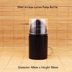 Promotion 10pcs/Lot Plastic 50ml Black Airless Pump Lotion Elmusion Bottle Small 5/3OZ Women Makeup Tools Pot Packaging