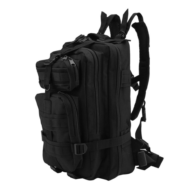 30l Breathable Mesh Backing Uni 600d Nylon Military Tactical Backpack Rucksack Camping Hiking Trekking Bag