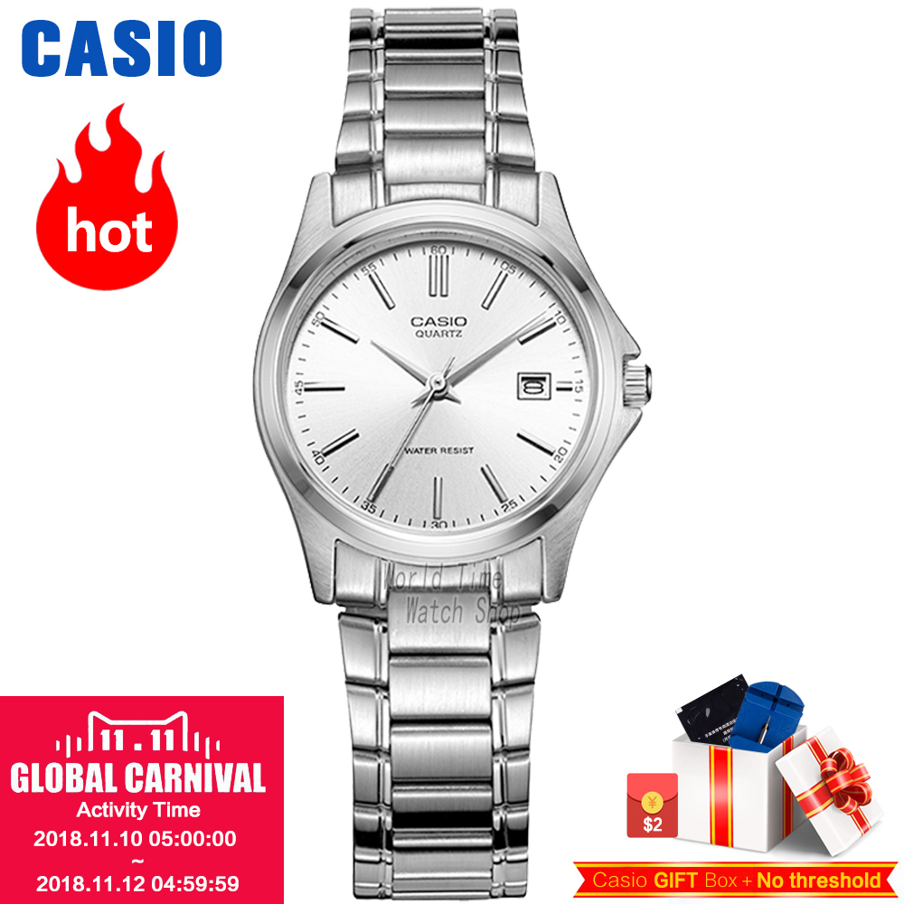 CASIO часы женские   Модные Простые с указателем водонепроницаемые кварцевые женские часы LTP-1183A-7A LTP-1183A-1A LTP-1183A-2A LTP-1094E-1A