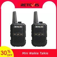 מכשיר הקשר 2pcs Retevis RT15 מיני מכשיר הקשר נייד USB שני הדרך רדיו תחנת UHF VOX טעינה משדר Communicator ווקי טוקי (1)
