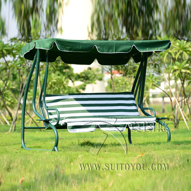 Attractive Outsunny Covered Outdoor Porch Swing Bed Hammock Outdoor Sleeping Leisure  Chair With Cushion