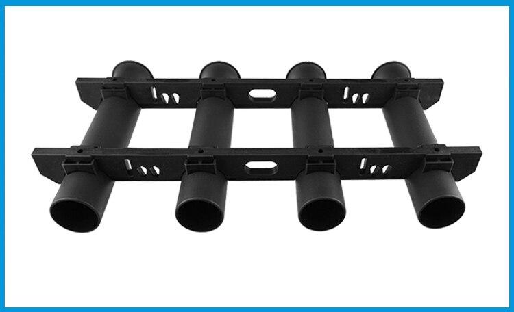 tubo durável suporte de montagem soquete rack
