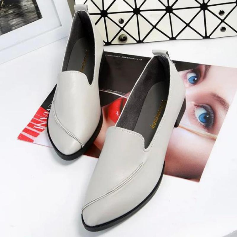 2018 Spring Womens Ballet Flats Loafers Soft Leather Flat Women Shoes Slip On Genuine Leather Ballerines Femme Chaussures 35-39 2018 spring women flats shoes women genuine leather shoes woman cutout loafers slip on ballet flats ballerines flats 169