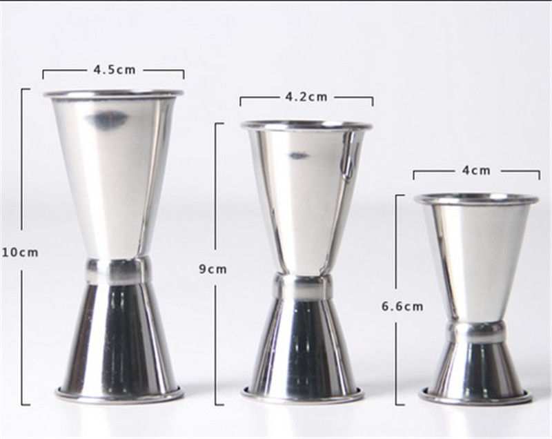 3 sizes for choice jigger single double shot cocktail wine short