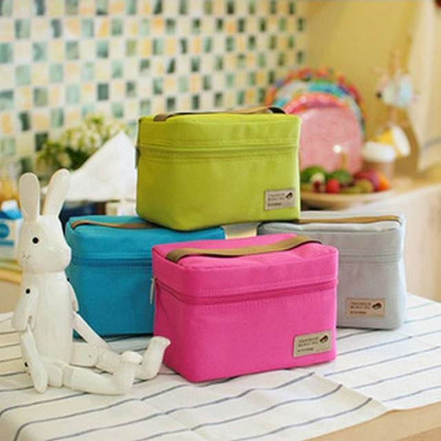 Practical Small Portable Ice Bags 4Colors Waterproof Nylon Cooler Bag Lunch Bag Leisure Picnic Packet Bento Box Food Thermal Bag