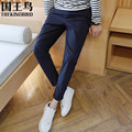 2017 new men's casual pants Spring and autumn casual pants Black Gray Blue Slim Stretch Pants Asian size M-3XL