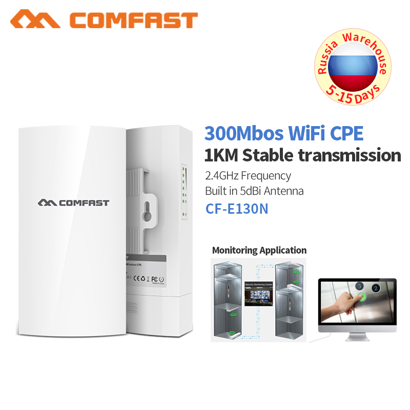 Long Range 300Mbps 2.4G Outdoor Access Point 5dBi WI-FI Antenna Repeater Wireless Bridge CPE Nanostation Router Wifi For IP Cam