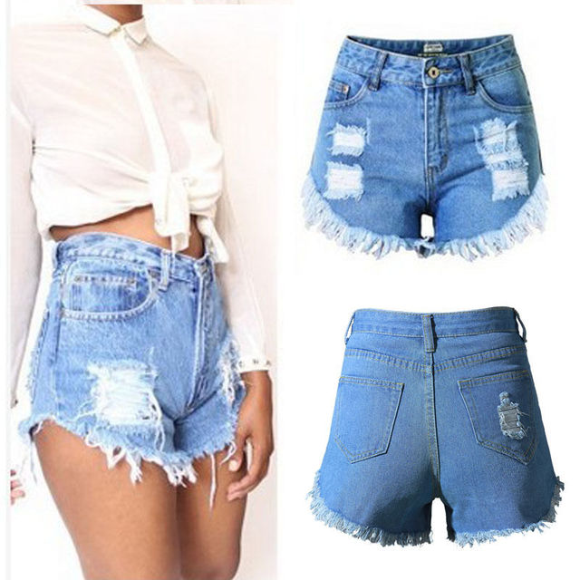 Aliexpress.com : Buy Vintage Women Ladies Summer Ripped Destroyed ...