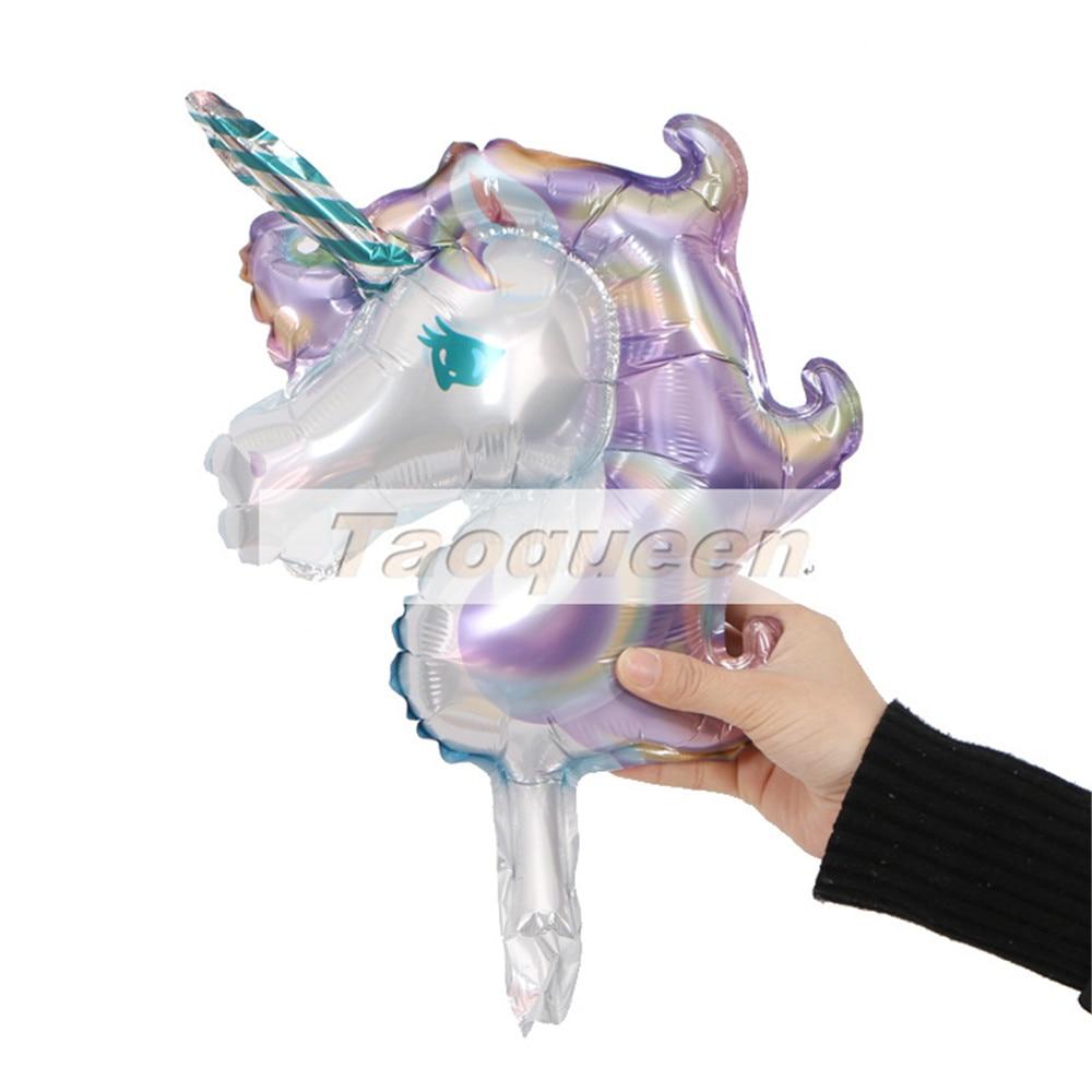 45-110 см гигантский Единорог воздушные шары вечерние принадлежности День Рождения украшения радужные шары Детские фольгированные шары мультяшная шляпа - Цвет: 7