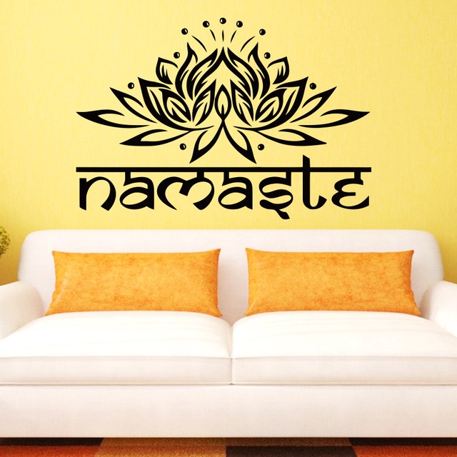 Aliexpresscom Buy Art design Indian Namaste Words religion Wall