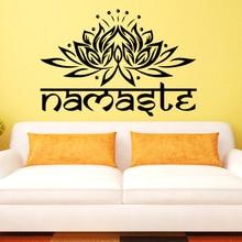 "Decalque ""namaste"" para decorar parede"