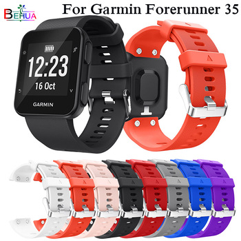 Colorful Silicone Strap Replacement Watch band For Garmin Forerunner35 Wrist strap for Garmin Forerunner 30 wristband bracelet for garmin instinct watch strap silicone band replacement smart accessories wristband for garmin instinct watchband bracelet